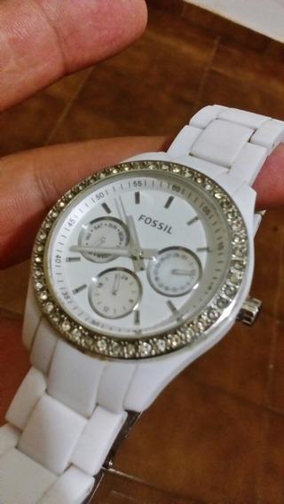 Promoção Relógio Fóssil Original Branco Feminino