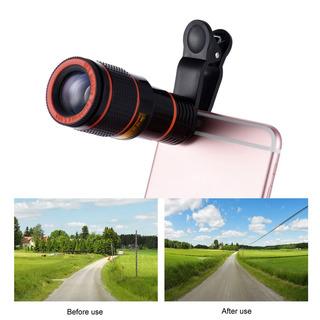 Lente Telescópica Zoom 12x Modelo Universal Clip Pra iPhone