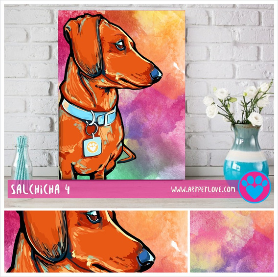 Cuadro Art Pet Love - Salchicha 4.