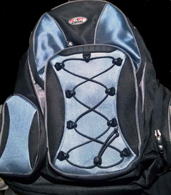 Mochila Backpack Para Laptop Next Case Azul Con Negro