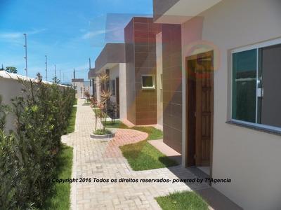 Ch80 Condomínio Fechado Na Praia Casas Novas Financia!