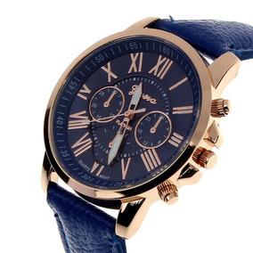 Relógio Geneva Em Couro Dos Homens