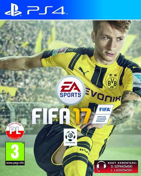 Jogo Mídia Física Fifa 17 Ea Sports Para Playstation Ps4