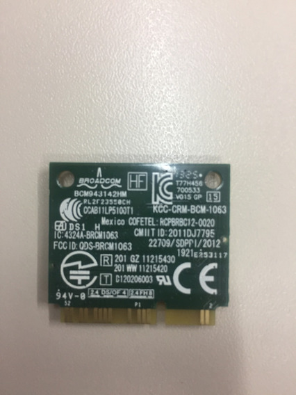 Mini Pci Wireless + Bluetooth Broadcom Bcm943142hm Notebook