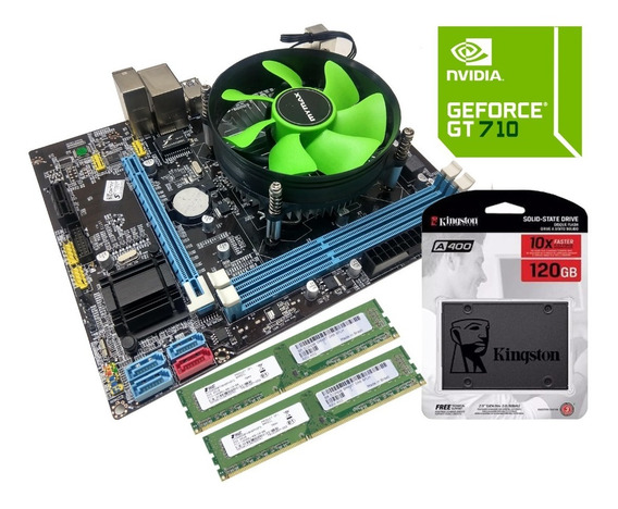 Kit Gamer Core I5 8gb Ssd 120gb Placa De Vídeo 2gb