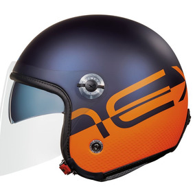 Capacete Aberto X70 City Azul/laranja (fosco) Tri-composto