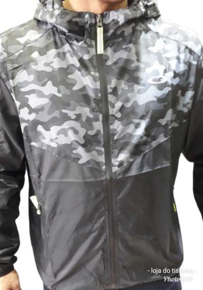 Corta Vento Jaqueta Blusa Zíper Símbolo Refletivo Oakley Top