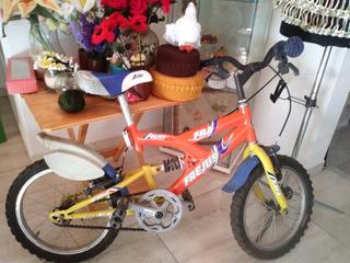 Bicicleta Niño Muy Buen Estado Rodado 16 Con Amortiguador