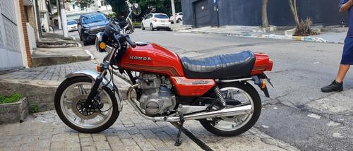 Cb 400 Vermelha 1981 Placa Preta Colecionador