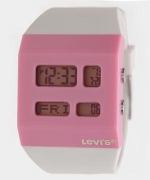 Reloj Levis Mujer, Blanco Con Rosa Pulsera Contra Agua