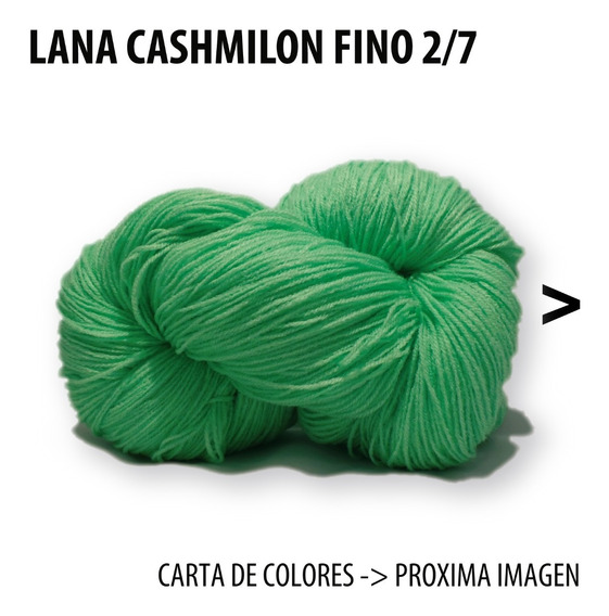 Lana Cashmilon Acrilico Fino Combo 6 Madejas