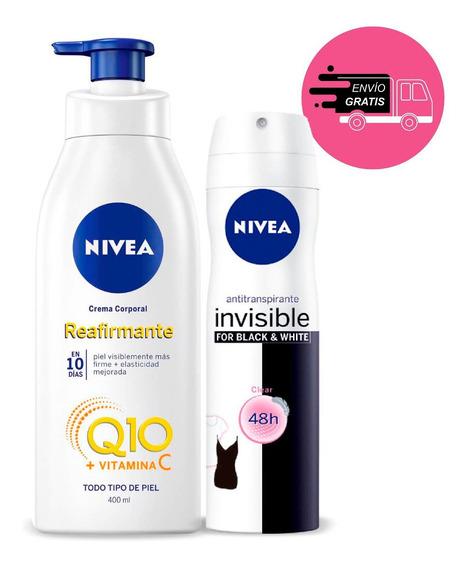 Crema Nivea Reafirmante Q10 Plus 400ml + Lata Creme 150