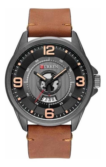 Relógio Original Couro Esportivo Estilo Militar Data Oferta