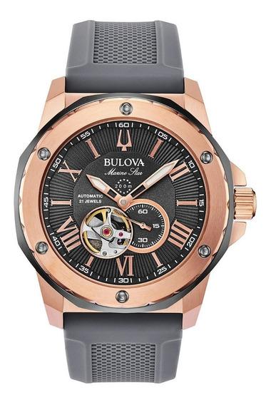 Relógio Bulova Marine Star Automático Esqueleto 98a228 + Nfe