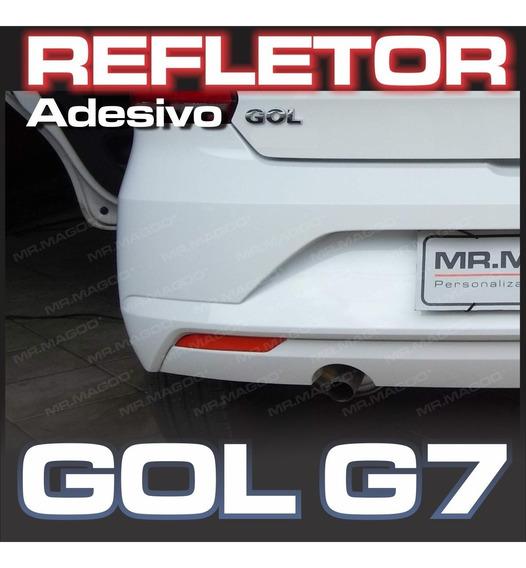 Refletivo Gol G7 G8 Refletor Do Parachoque Mr. Magoo*