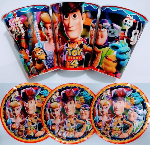 Toy Story 50 Platos Y 50 Vasos Artículos De Fiestas C/envío