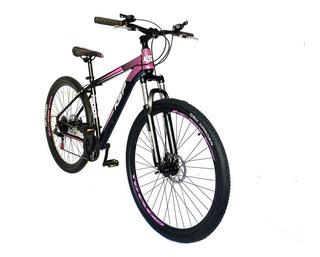Bicicleta Aluminio Rodado 29 Shimano 21v Ksp Susp Bloqueo