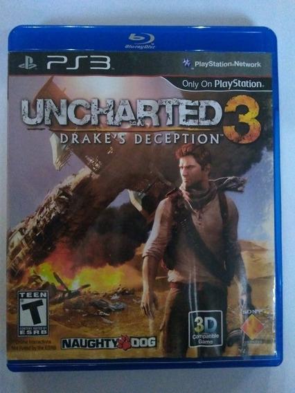 Jogo Uncharted 3 Ps3 Mídia Física Completo R$49,00