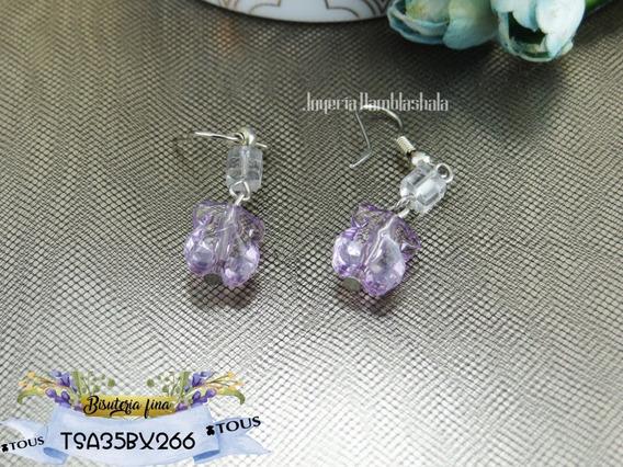 Aretes Tipo Tous Plastico Cristal Tsa35bx266 Pendientes