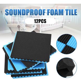 12 Piezas De Espuma Acústica Antiruido 30 X 30 X 2,5 Cm, In