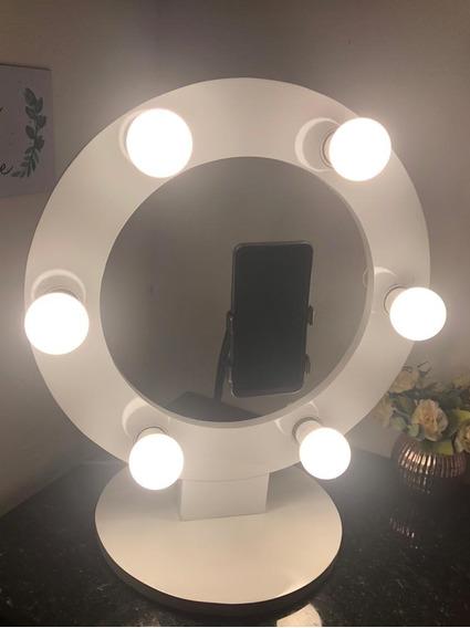 Ring Light 100% Mdf Branco Laqueado