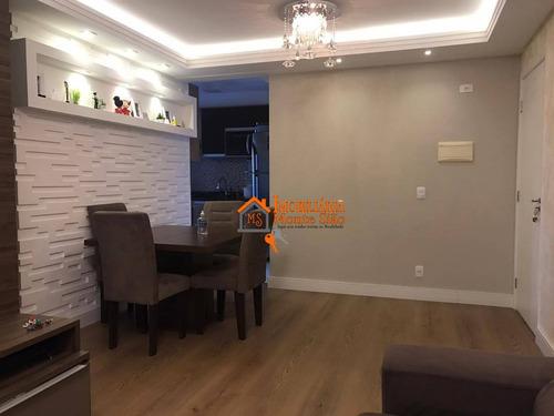 Imagem 1 de 18 de Apartamento Com 3 Dormitórios À Venda, 76 M² Por R$ 455.500,00 - Picanco - Guarulhos/sp - Ap2323