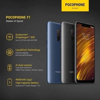 Smartphone Xiaomi Pocophone F1 128gb Global Novo Preto