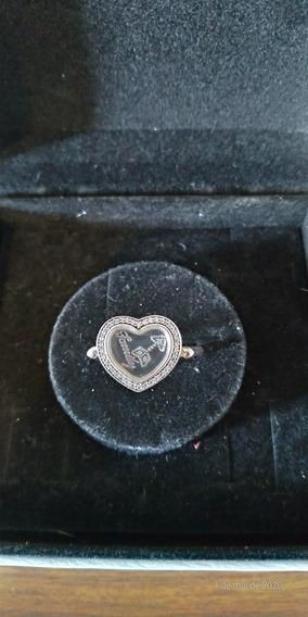 Anel Pandora Original Coração Locket Brilhante