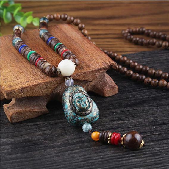 Collar Budista Mala Tibetana Madera Alta Calidad