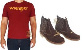 Botina Country + Camiseta Estampada Original Wrangler