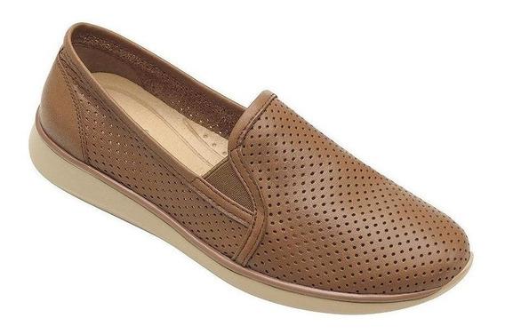 Calzado Dama Mujer Zapato Casual Flexi Piel Miel Comodo