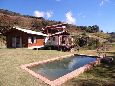 Excelente Casa Com Linda Vista, Cercada Pelo Verde Da Mata Atlântica! - E4846