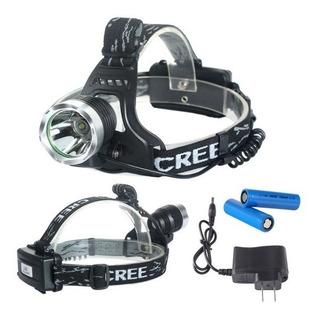 Lanterna De Cabeça Led 10w Cree T6 + 2 Baterias + Carregador