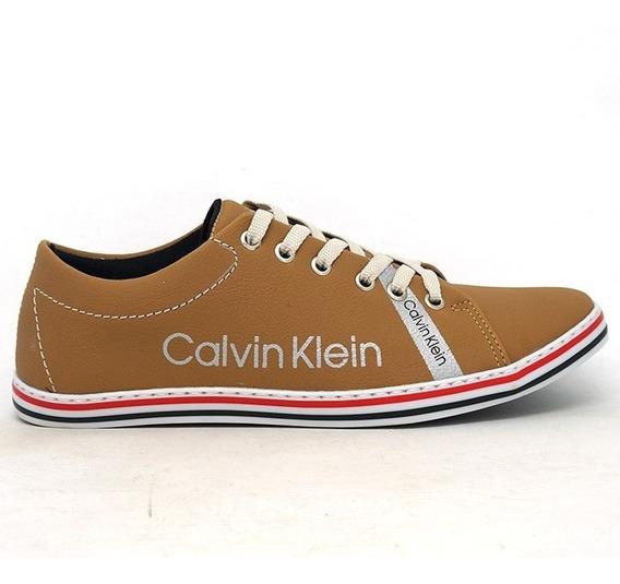 Sapatênis Masculino Calvin Klein Marrom Caramelo