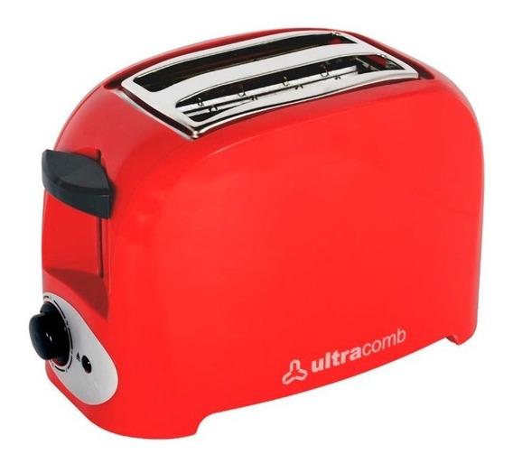 Tostadora Ultracomb To-4005 Descongela 750w Roja Pc