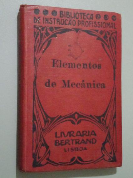 Livro Elementos De Mecânica