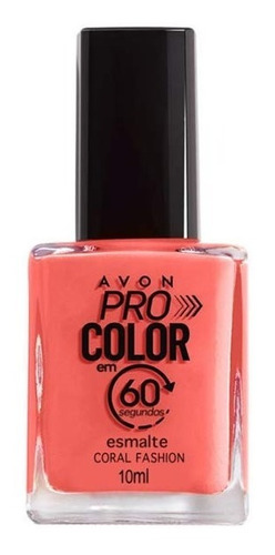 Imagem 1 de 1 de Avon - Pro Color 60 Segundos - Esmalte - Coral Fashion