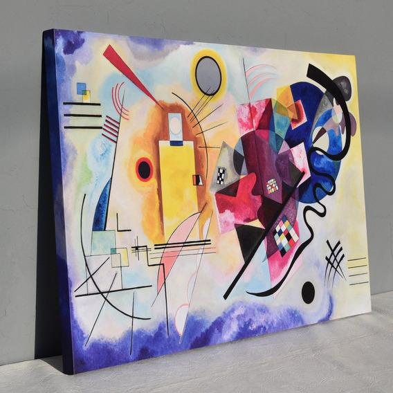 Cuadro Kandinsky Jaune Rouge Bleu 110x70 Canvas
