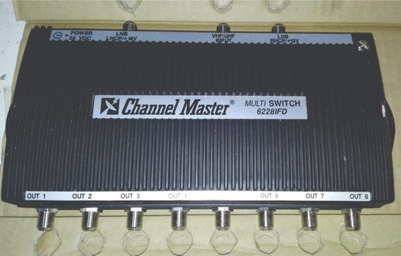 Multi Switch De Tv Satelital - Channel Master - X8