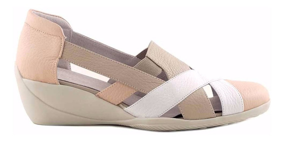 Zapatilla Zapato Cuero Mujer Briganti Base Goma - Mczp05210