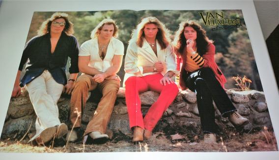 Van Halen Poster Rock Brigade Excelente Estado