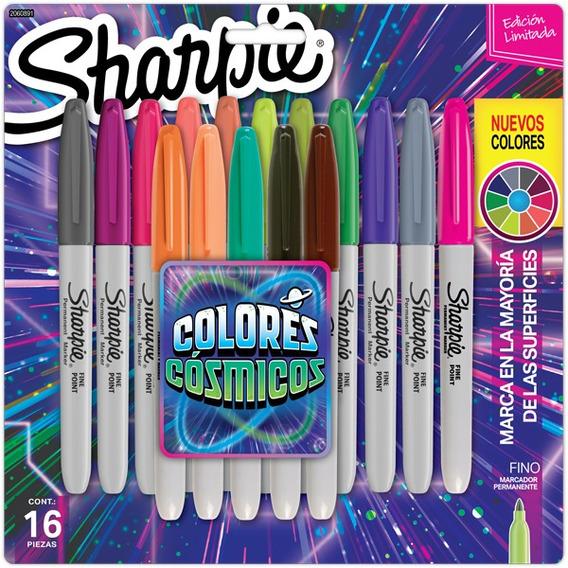 Marcadores Sharpie Fibra Colores Cosmicos Finos X16