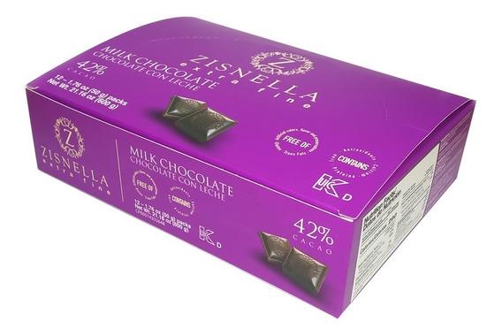 Chocolate Con Leche 50g 42 % Cacao (12 Unid)