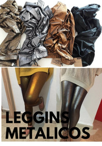 Leggins Metalicos Variedad De Colores