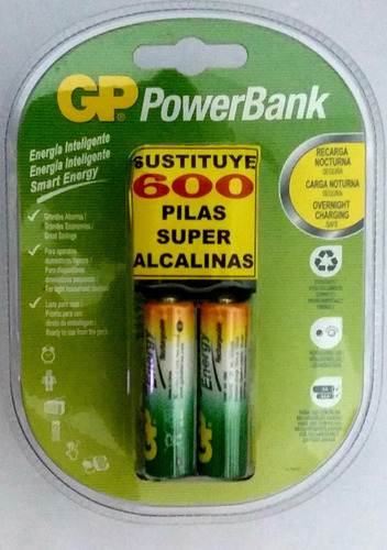 Cargadores Gp Smart Energy Con 2aa 1000mah Recargables