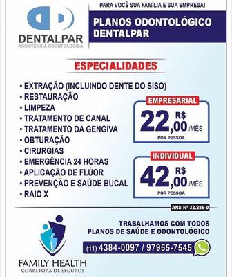 Promoção Plano Odontológico Dentalpar