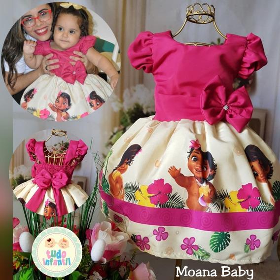 Vestido Festa Moana Baby
