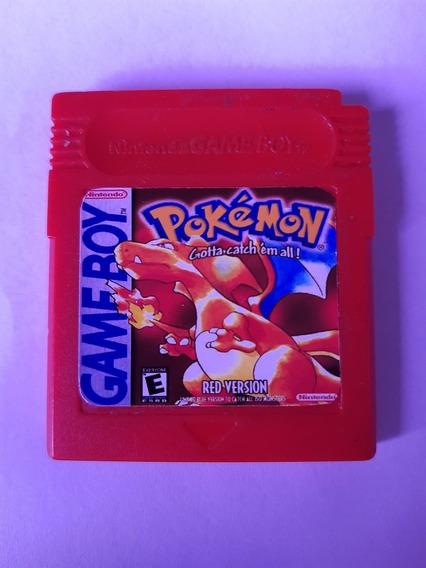 Pokemon Red Original Gb Game Boy Com Bateria 100% + Garantia