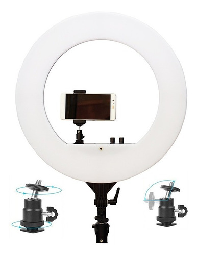 Ring Light 18p 80w 46 Cm 480 Led Grande + Tripe 2 Mt C/nota