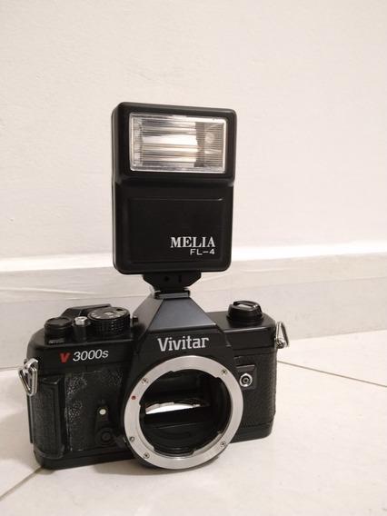 Câmera Vivitar V3000s C/ Flash Melia Fl-4